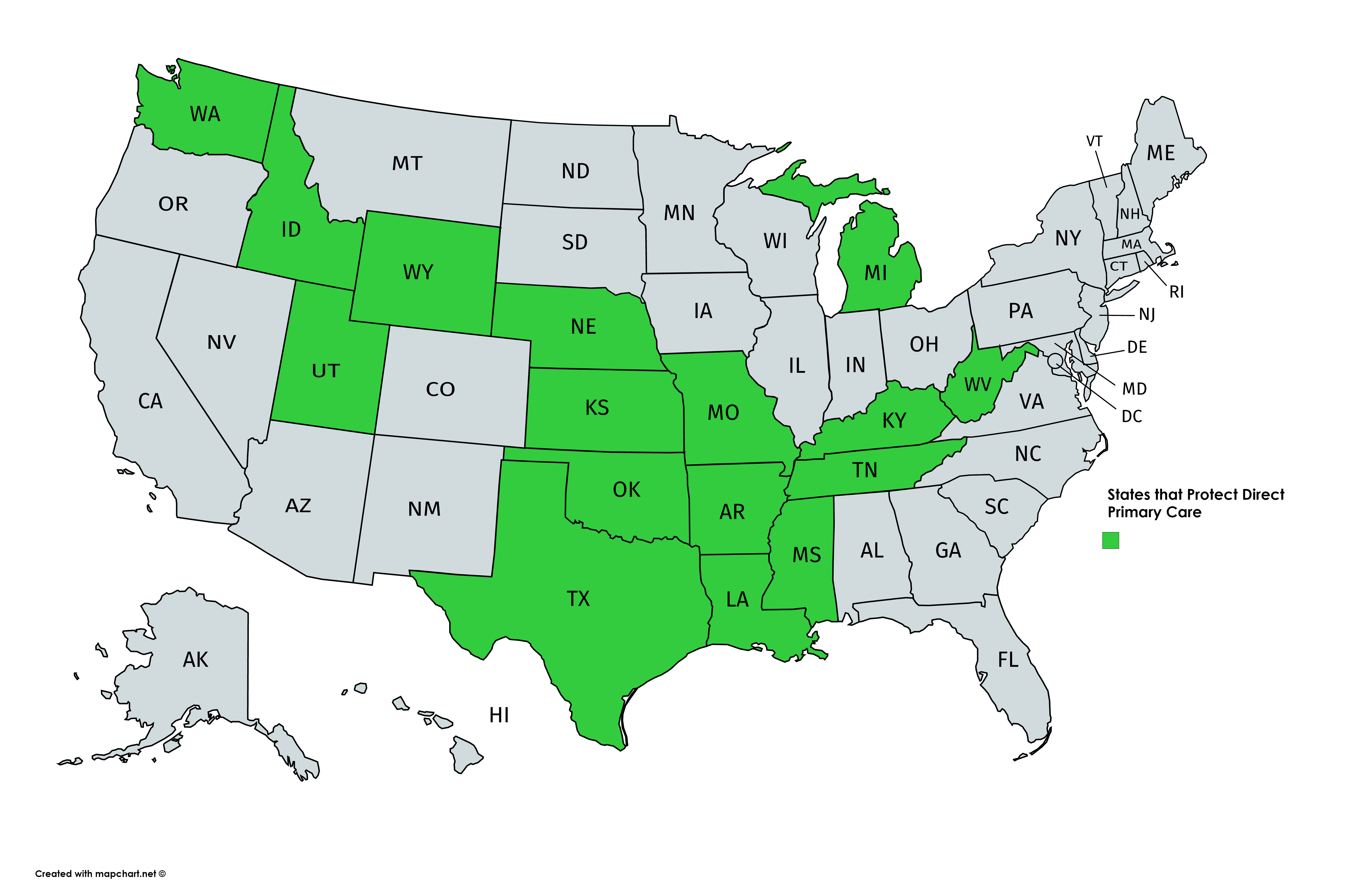 States that Protect Direct Primary Care
