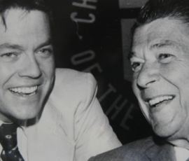 Dr. Art Laffer with President Ronald Reagan