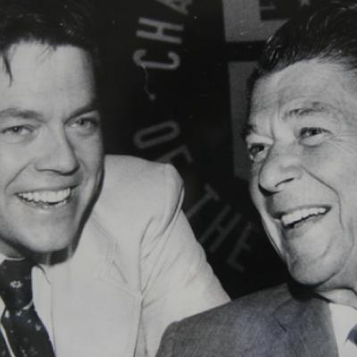 Dr. Art Laffer with President Ronald Reagan