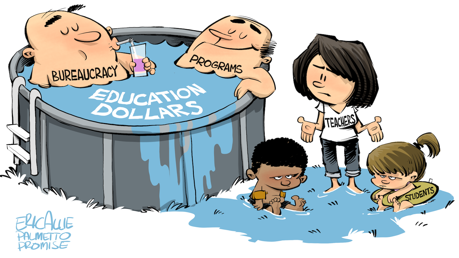 Cartoon: Education funding pool